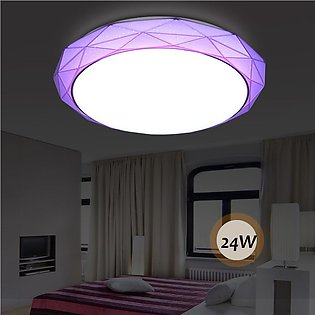 24W Ultra Bright Round LED Ceiling Panel Light Lamp Living Room Bedroom Home wh…