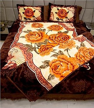 Decorum 4 Pcs Double Bed Embossed Bedcover Set With Blanket - Design # PL-202 /…