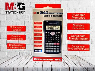 Scientific Calculator - 240 Functions - 2 Line Display - 12 Digits - MGC-03