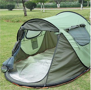 High Quality Thickened Silveryy Plating Oxford Cloth Tent For 3-4 Persons