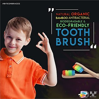 Colorful Bamboo Toothbrush  Oral Care Kids Friendly Biodegradable Organic Bacte…