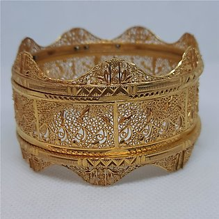 Gold plated, Stylish and unique Kara Bangles for women 230-O