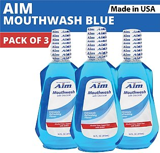 Aim Mouthwash (Pack of 3) Extremely Refreshing Flavor | 473 ML (Made In USA)