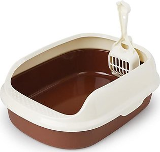 Toilet Bedpan Cat Litter Box Cat Dog Tray Toilet Supply Teddy Anti-Splash Pet D…