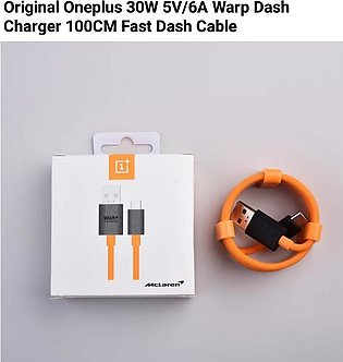 Original For 7/6T/6/5 Pro Warp Charge 30W 5V/6A Dash Charge Data Cable