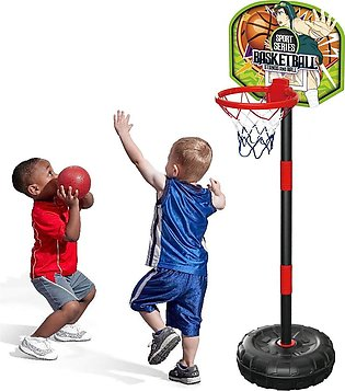 Sport Series - Junior Basketball Hoop Stand with Net and Ball -