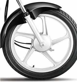 zayan collection Pack of 4 - 2 Tubeless Tyres with 2 Alloy Rim for 70cc Motorbi…