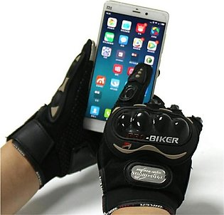 Pro Biker Gloves for Bike / Motorcycle Riding Imported (Washable)