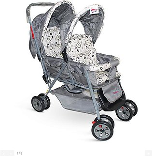 Fisher Price - Twin Baby Stroller Grey