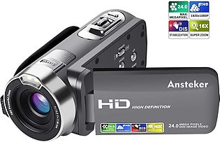 Video Camera camcorders, HD Video Camera with 1080P 24MP 16X Digital Camcorders…
