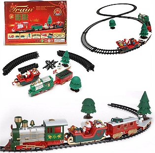 20Pcs Musical Christmas Train Carriages Tree Tracks Light Birthday Gift Kids Toy