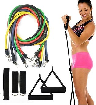 CSU 5 in 1 Combo - Power Resistance Bands Set - Home Gym Extreme - with Travel …