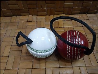 Cricket Hanging Hard Ball for Bat Stroke pack of two