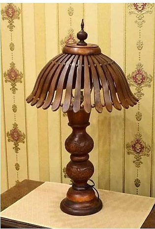 Handcrafted Pure Sheesham Wooden Umbrella Style Lamp