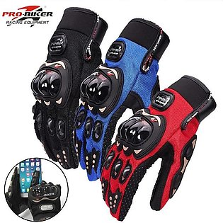 Pro-Biker Carbon Fiber Bike Motorcycle Racing Gloves