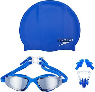 Set of 3 - Swimming Glasses Waterproof Dust-proof Anti-fog UV Protection Nose C…
