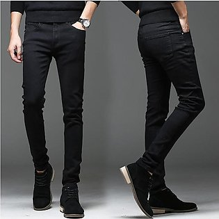 Jeans Dark Black For Boy Imported Length 34 Wear 10 year