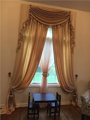 Fancy Cotton Satin Curtain For Home/Office 01