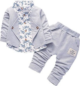 Cute Boy Gentry Set mal Party Christening Wedding Tuxedo Bow Suit Baby