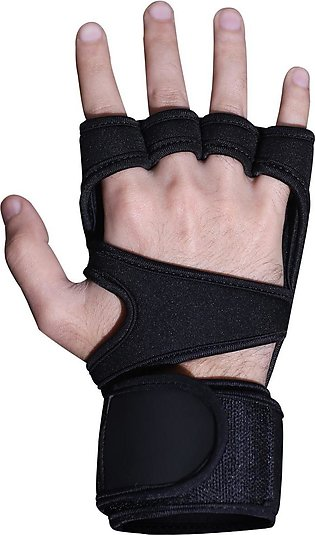 Gym Glove Neoprene 4mm  front gripper black glove with  piping black
