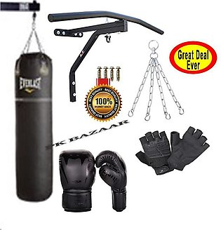 3Ft Boxing Bag Punching Bag Chain Gym Glove Boxing Gloves Boxing Bag 2 in 1 Sta…