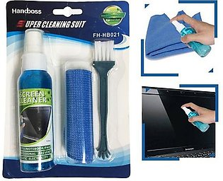 3 In 1 Super Cleaning Kit for LCD LED Laptop and Mobile Phone Screens DSLR Lens