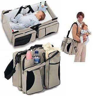 Travel Portable Baby Bed and Bag 2 in 1 Adjustable Baby Kids Toddler Sleeping C…