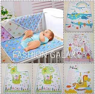 Extra Soft Baby Infant Diaper Changing Sheet And Cartoon Printed Mat In LARGE S…