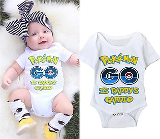 Boys And Girls Pet Elf Jumpsuit Harry Pokemon Go Pikachu Alphabet Short Sleeve …
