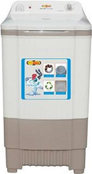 Super Asia SD-550 - Semi Automatic Spinner-Dryer 10 kg - White & Grey Power Ful…