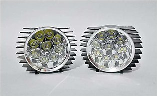 2 pcs fog light 9led high-low-flashing function for bike/car universal