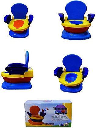 Mama Love Baby Potty Trainer 3 In 1 - Multicolor