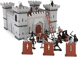 Knights Catapult Castle Medieval Toy Soldiers Infantry Figures Accessory Playset