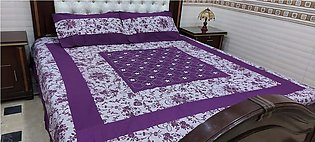 Embroided Double Bed Bed Sheet