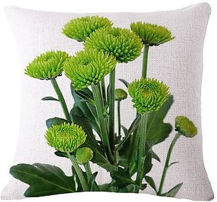 18 Inch Fresh Simple Style Various Flowers Pattern Pillow Case flax Cushion Cov…
