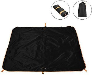 145 x 145cm Double Layer Waterproof Collapsible Carpet Beach Bag Blanket Campin…