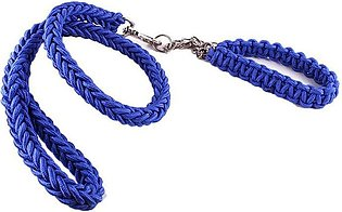 Eight Strands Running Traction Rope With Dog Collar Pet Dog Leash Rope-blue