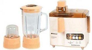 National 3 in 1 Juicer, Blender & Grinder - Peach & Beige