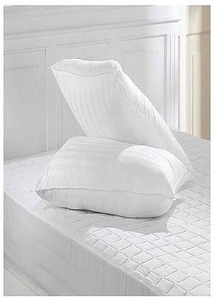Decore Pack Of 2 - Siliconized Ball Fiber Pillows - White