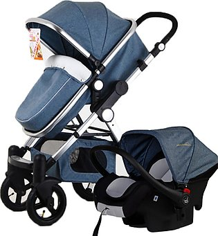 【New Arrival】3 in 1 Pro Baby Stroller High View Pram Foldable Pushchair Bassine…