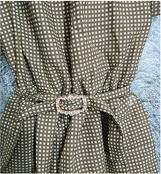 baby girl romper, 5-6 years,brown check style