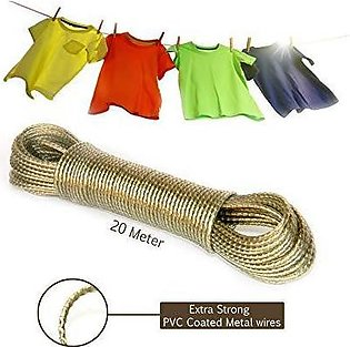 i-gadgets Laundry 10 meter PVC Coated Steel Anti-Rust Wire Rope Washing Line Cl…