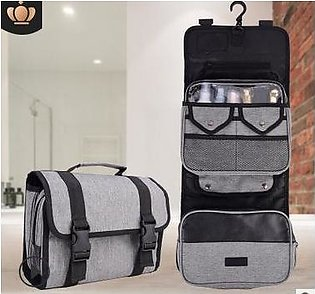 Hanger Cosmetic Case Makeup Bag Organizer Storage Travel Toiletry Pouch Washable