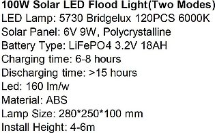 100W SOLAR FLOOD LIGHT Solar Lights Flood Light 100W Outdoor Lights Wall Patio …
