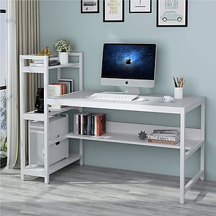 Dripex Computer Desk with 4 Tier Storage Shelves Student Study Table with Books…