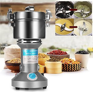 Silver Grinder 400G Electric Grain  Cereal Mill Flour Coffee Food Wheat Machine