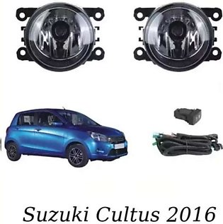 - 2Pc Fog Light With Wiring and Switch For Suzuki New Cultus