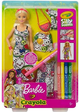 Barbie Crayola Color-In Fashions Doll & Fashions