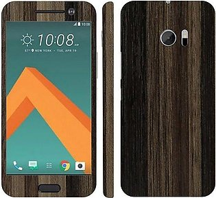 HTC 10 Brown Stripped Wooden Texture Mobile Skin