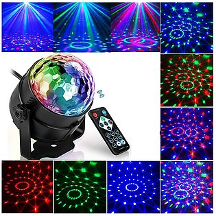 7 Color DJ Ball Lumiere 3W Sound Activated RGB Laser Projector Stage Lighting L…